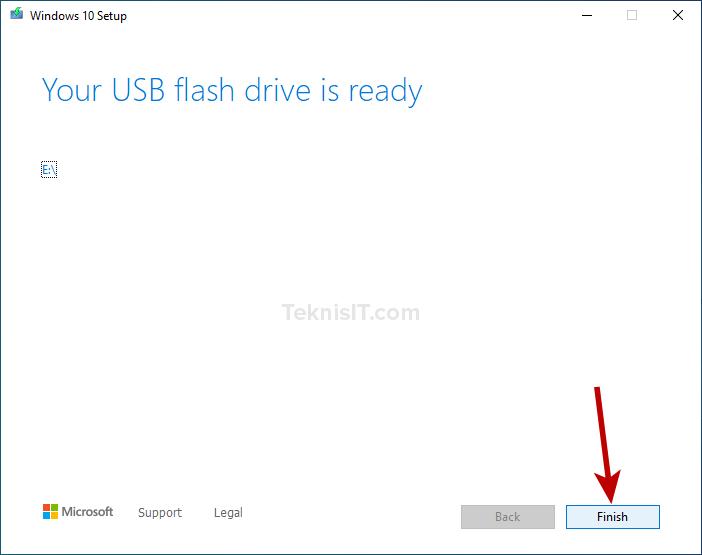 Cara membuat bootable flashdisk dengan Media Creation Tool