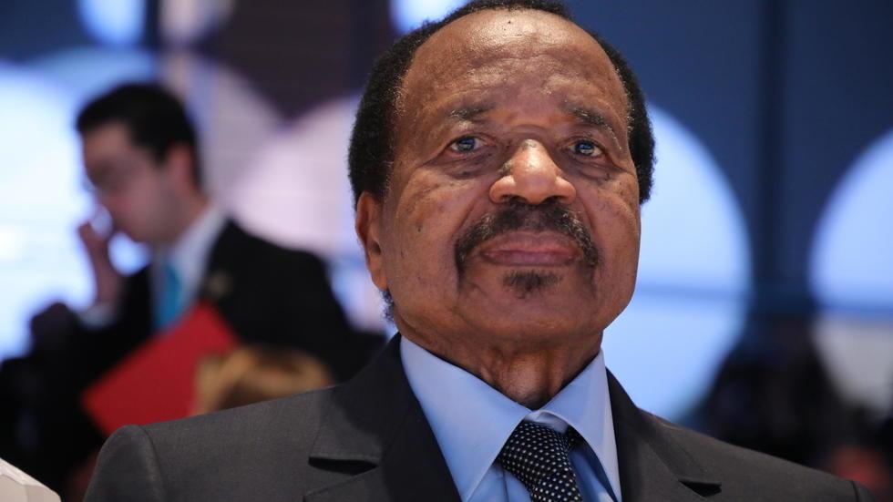 Cameroonian President Paul Biya, in Lyon on October 10, 2019