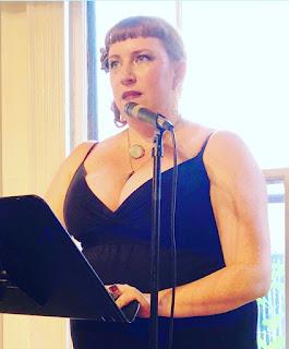 bridget eileen reading at the 2017 boston poetry marathon