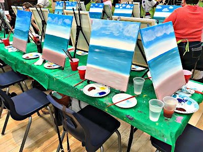 April 12, 2018 Fundraiser Paintnite such fun.