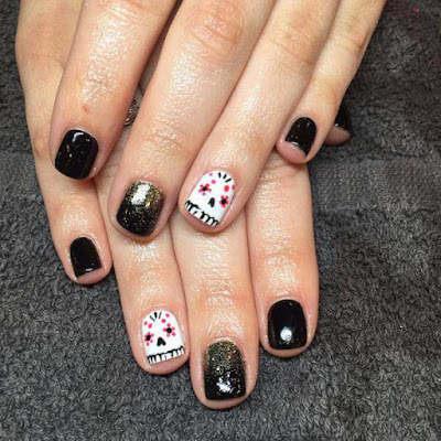 Mexican,Mylar Nails Art, Ideas for Valentine's Day