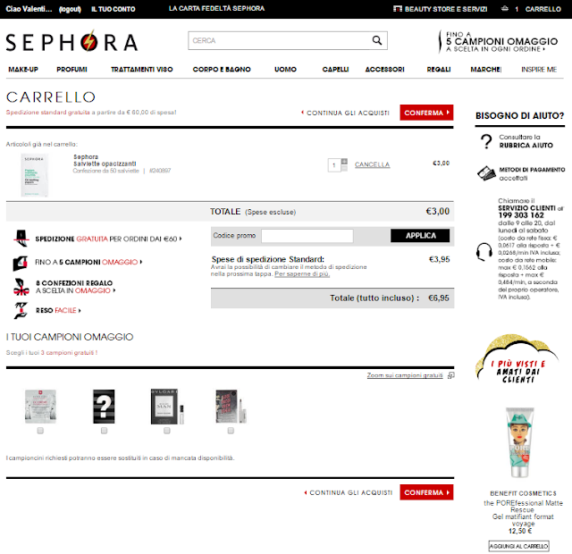 Shopping online experiences: Sephora opinions about order, packaging, customer servise
