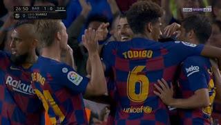 اهداف مباراة برشلونة واشبيلية في الدوري الاسباني