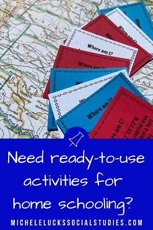 Homeschooling and Distance Learning can be a great challenge if you don't have the right resources for your students. Instead of assigning textbook reading or endless online searches, let your kids have fun with engaging activities as they practice skills and learn key content in American History, Geography, and more!