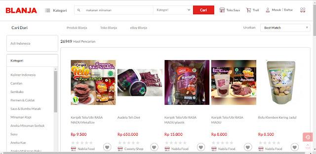 Toko Makanan & Minuman Online BLANJA.com Sering Kasih Diskon dan Aneka Cashback!