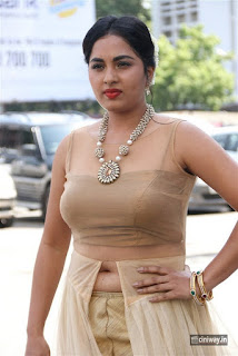Actress Srushti Dange Stills at Dharmadurai Audio Launch