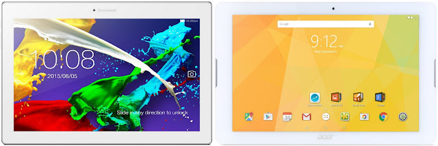 Lenovo Tab 2 A10-30F vs Acer Iconia One 10 B3-A20