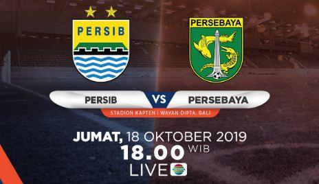 Susunan Pemain Persib Bandung vs Persebaya Surabaya