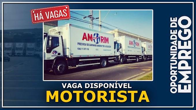Grupo Amorim abre vagas para Motorista Truck