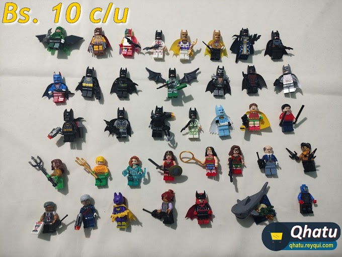 Réplica Legos: Minifiguras de Marvel, DC, X-Men, Star Wars, Star Trek y otros