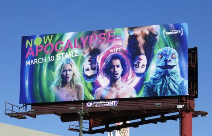 Now Apocalypse series premiere billboard