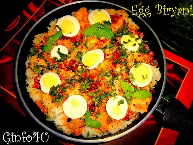 egg biryani recipe-how to make egg biryani recipe at home by Ginfo4u