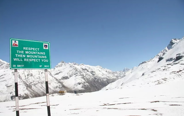 Rohtang Pass in Winter