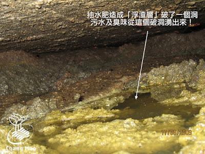 化糞池水肥堆積