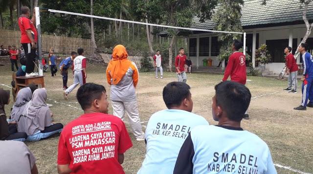 Turnamen Volly Dan Takraw Persahabatan OSIS SMKN 2 Selayar Berlangsung Semarak