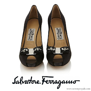 Princess Marie wore Salvatore Ferragamo Selaby Peep Toe Pump