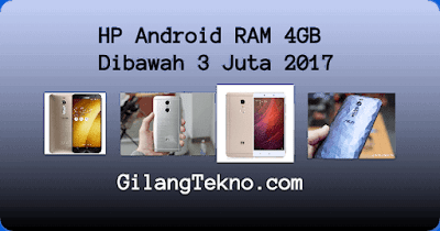 HP Android RAM 4GB Dibawah 3 Juta 2017