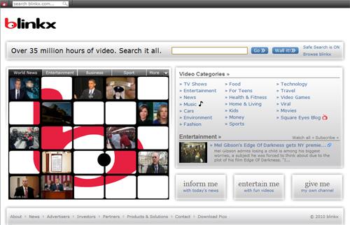 أفضل 13 موقع فيديو مثل يوتيوب -  Blinkx