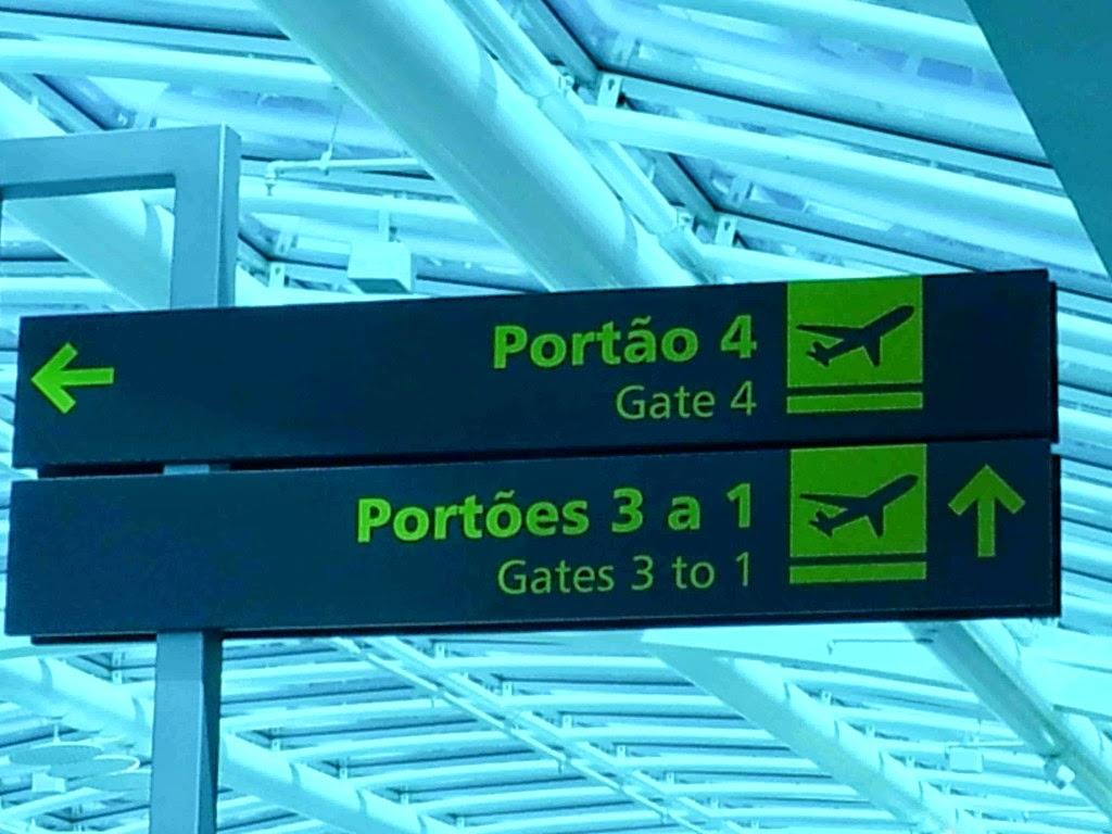 Identificação: portões de embarque