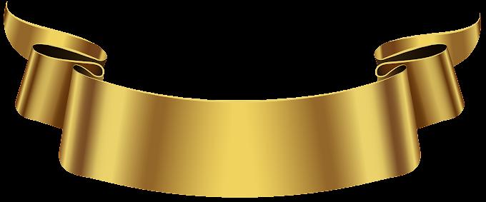 Banner, Golden Banner, gold ribbon graphic art, angle, ribbon, logo png free png