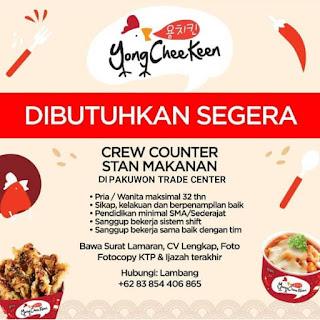 Info Lowongan Kerja Store Crew Yong Cheekeen Pakuwon Surabaya