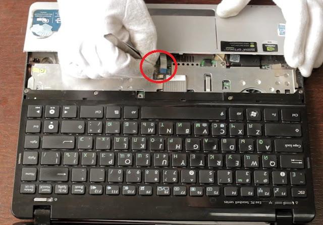cara membuka dan memasang keyboard Asus eepc 1215B