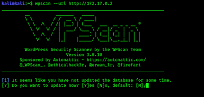 WPScan asking for update