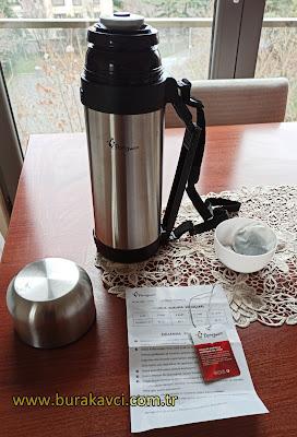 Penguen PNG-1150 Model 1,5 Litre Çift Katlı Çelik Avcı Termos Ürün İncelemesi ve Termos Çay Demleme Nasıl Yapılır?