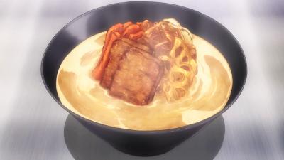 Saat duel memasak melawan Yukihira Soma Ini lho kuliner Indonesia pertama yang nimbrung dalam Shokugeki No Soma dan berhasil mengalahkan masakannya Yukihira Soma