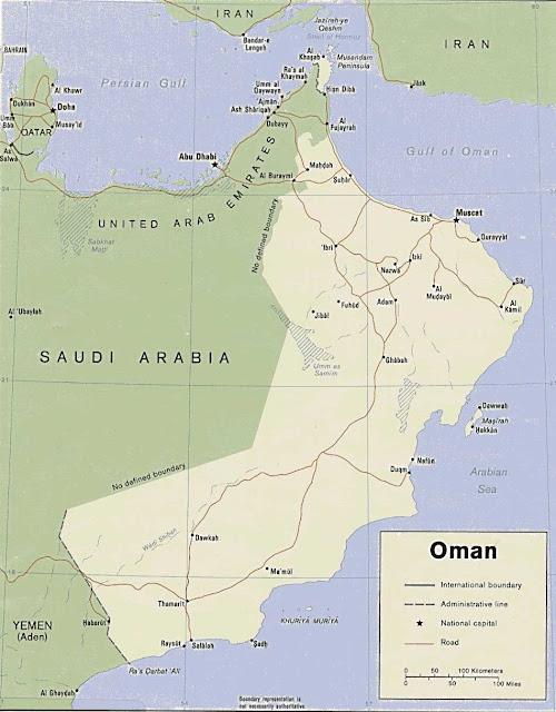 Gambar Peta Politik Oman
