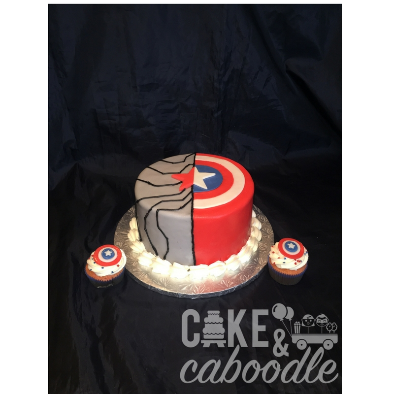 Prime Captain America Winter Soldier Cake Cake And Caboodle Funny Birthday Cards Online Aeocydamsfinfo