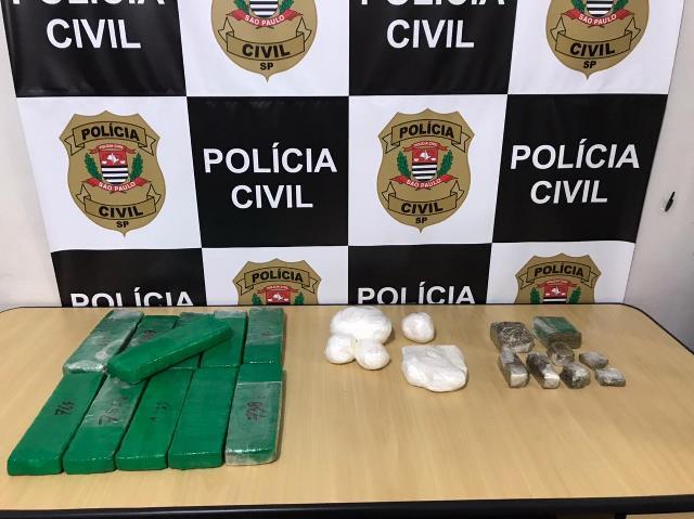 Polícia Civil captura procurado com mais de 10 quilos de drogas em Registro-SP