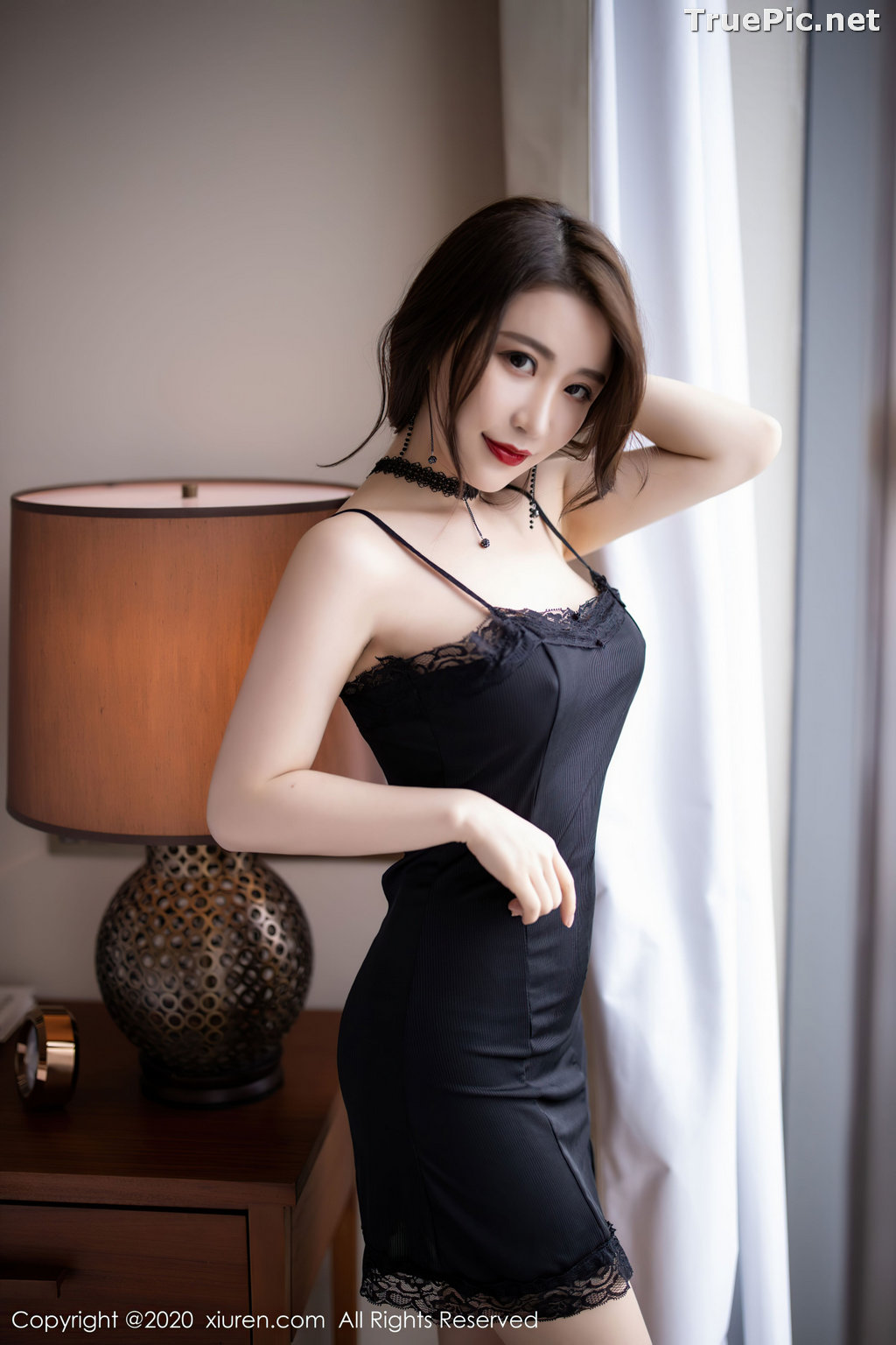 Image XIUREN No.2620 - Chinese Model - 绯月樱-Cherry - Sexy and Mysterious Black - TruePic.net - Picture-2