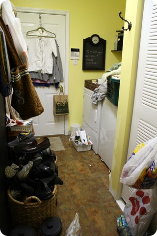 mud room laundry combo before