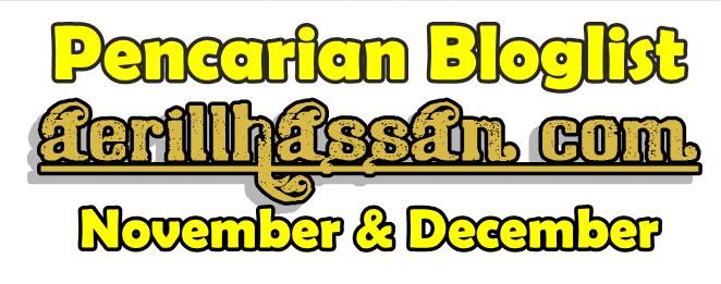 Senarai Peserta Pencarian Bloglist November & December