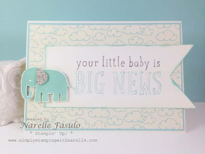 Narelle Fasulo - Independent Stampin' Up! Demonstrator - Simply Stamping with Narelle - Big News and Zoo Babies - http://www3.stampinup.com/ECWeb/default.aspx?dbwsdemoid=4008228