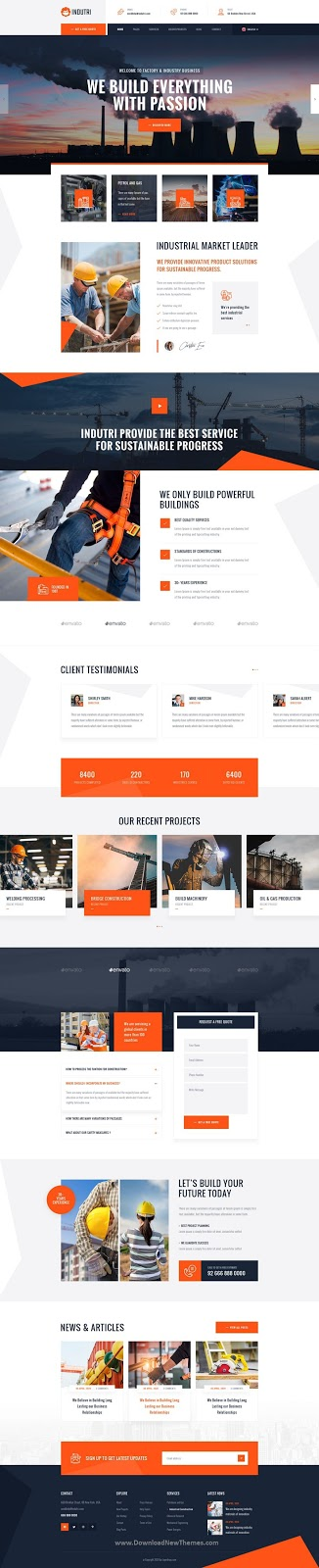 PSD Template For Industry & Factory Business