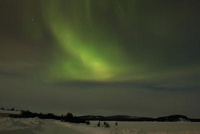 Una de las auroras boreales observadas en el viaje