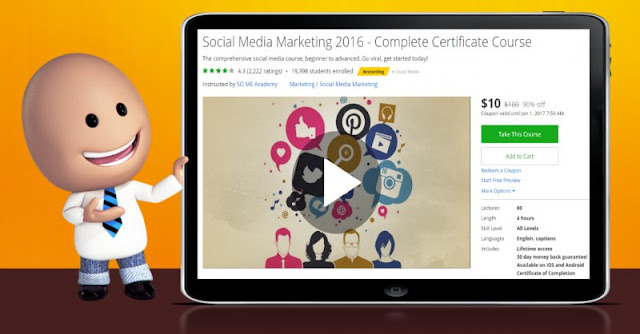 [90% Off] Social Media Marketing 2016 - Complete Certificate Course| Worth 100$