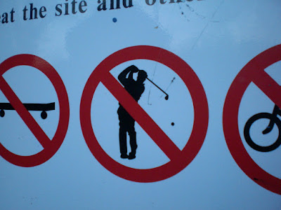 NO GOLF at Woodlands Park in Gravesend, Kent