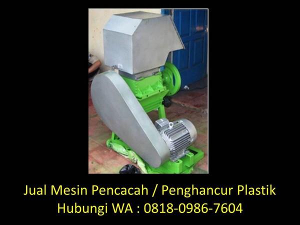 mesin penghancur plastik menjadi biji plastik di bandung