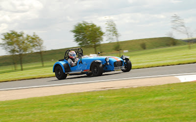 On track at Bedford Autodrome in my Caterham R500