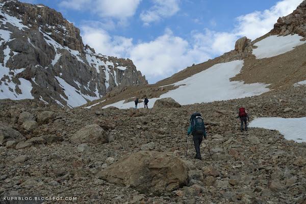 Начало подъёма на Ярудагский перевал