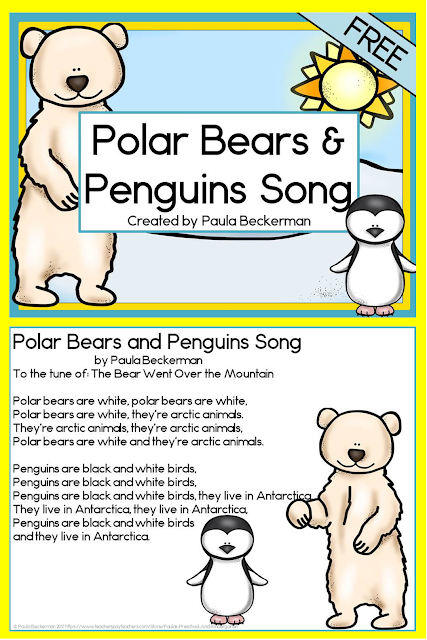 https://www.teacherspayteachers.com/Product/Polar-Bears-and-Penguins-Song-FREE-2972278