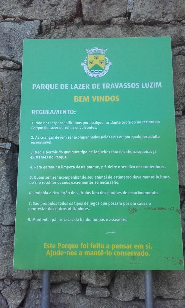 Regulamento do Parque de Lazer de Travassos Luzim