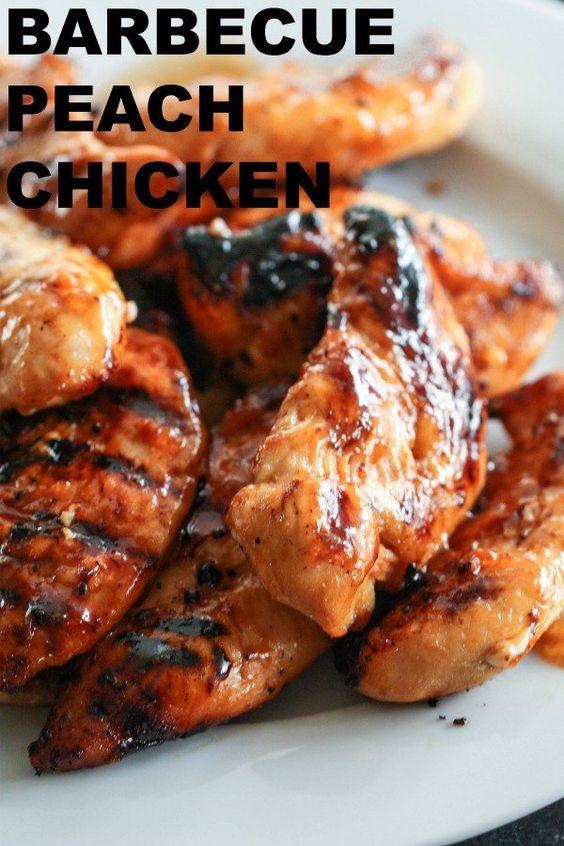 Barbecue Peach Chicken