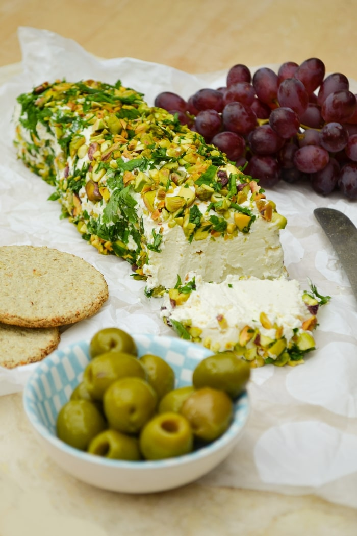 Savoury Cheese Log with Parsley & Pistachios