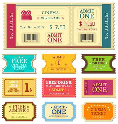 tickets entradas cine vector