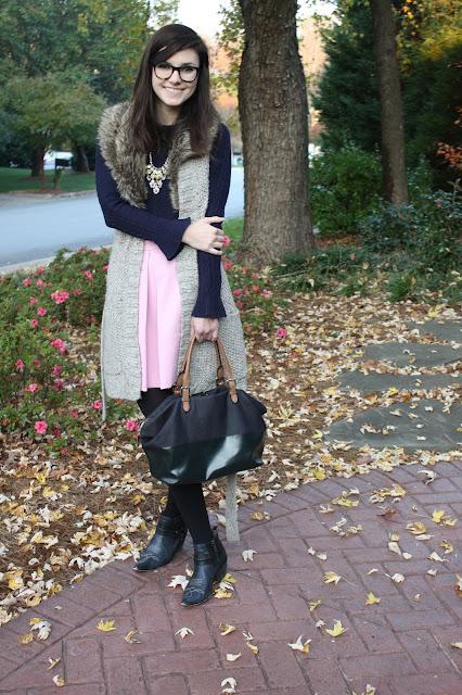 fur, navy, pink, ruffles, pink