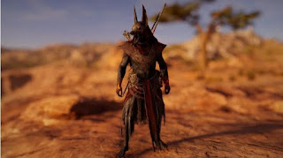 Bayek take on the form of Anubis, the jackal-headed god of the dead and the protector of the underworld